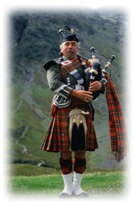 Lone Piper - Scottish holidays at the Dunbeath Estate.